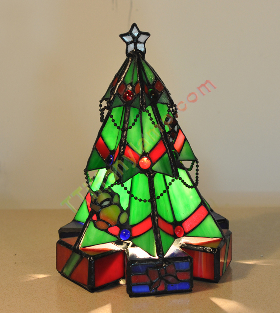 Christmas Tree Accent Tiffany Lamp Christmas Tiffany
