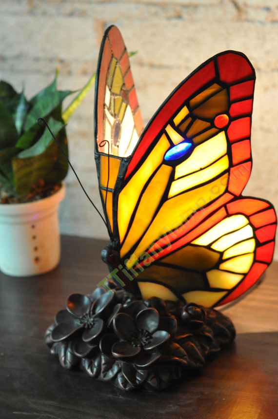 Tiffany Butterfly Lamp A1709 9 Tiffany Accent Lamps